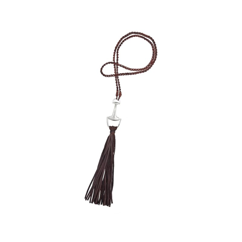 Vincent Peach Equestrian Fringe Necklace